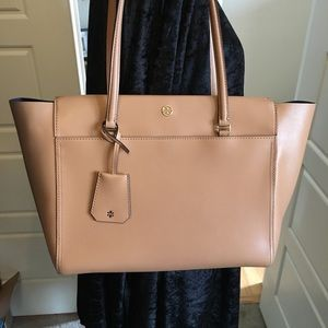 Tory Burch Parker tote - Tan/navy